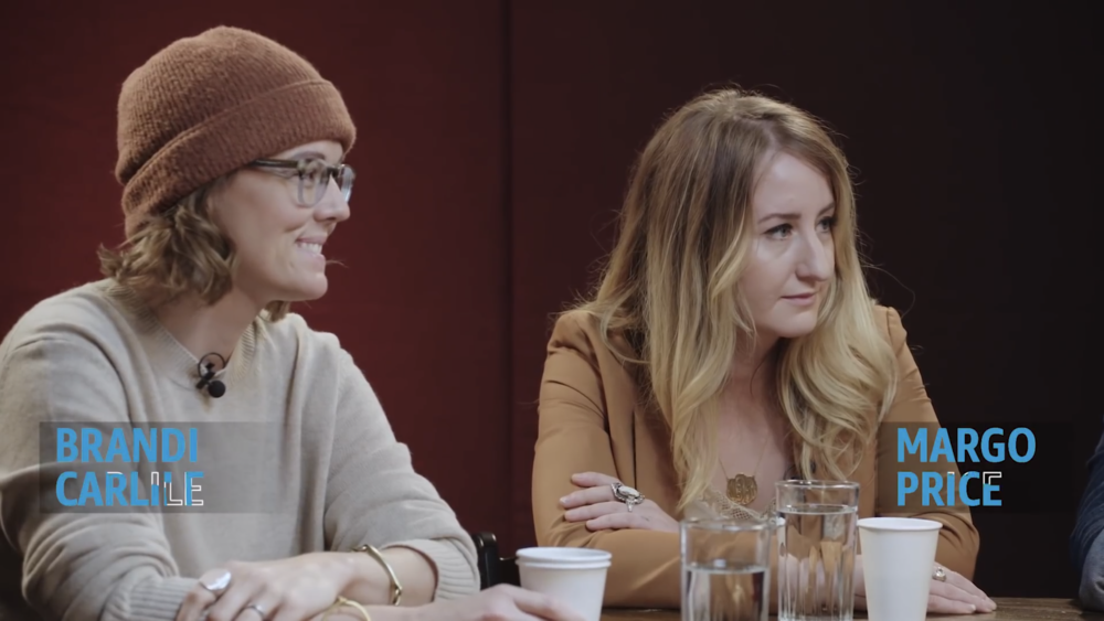 Brandi Carlile & Margo Price for Amazon Music round table