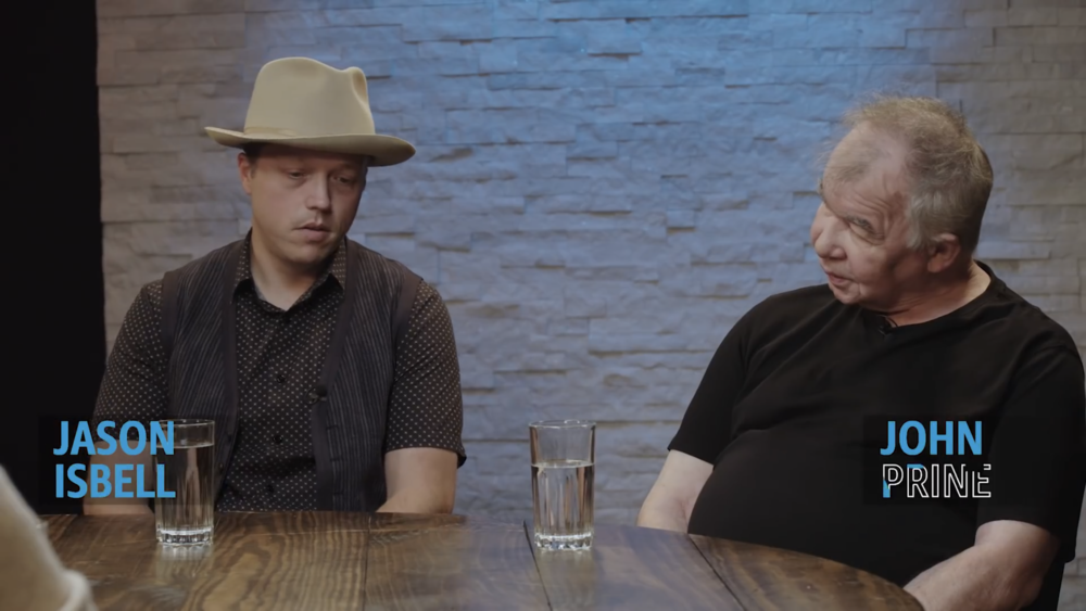 Jason Isabell & John Prine for Amazon Music round table