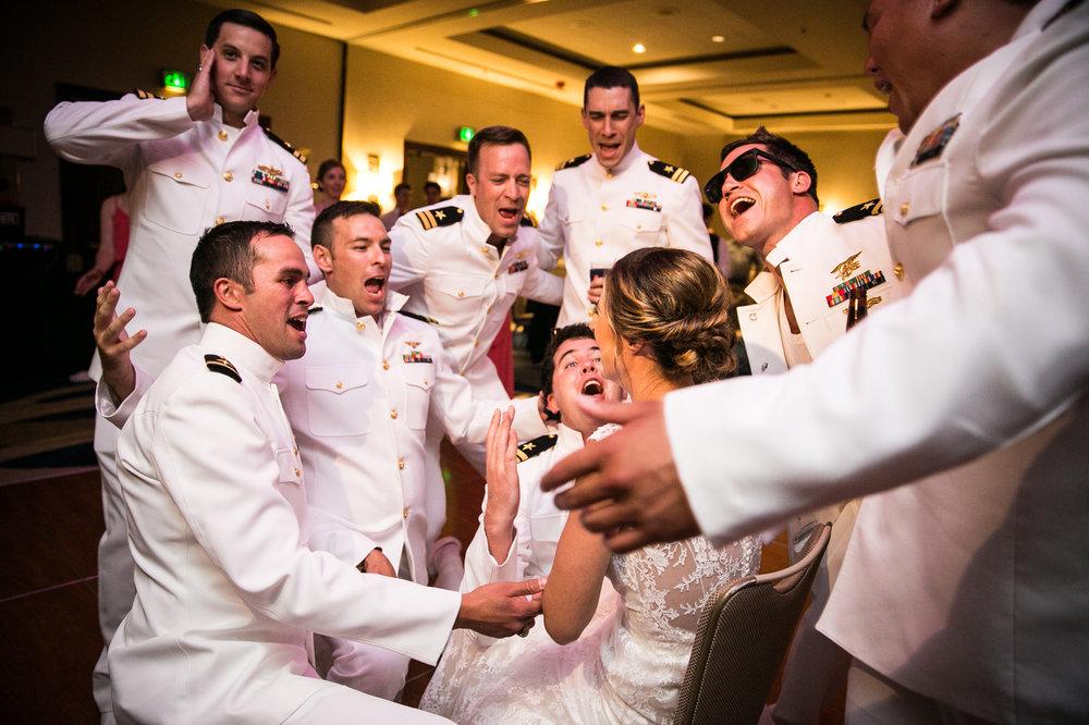 Naval Academy Wedding_Navy Guys_Silly Wedding Photo.JPG