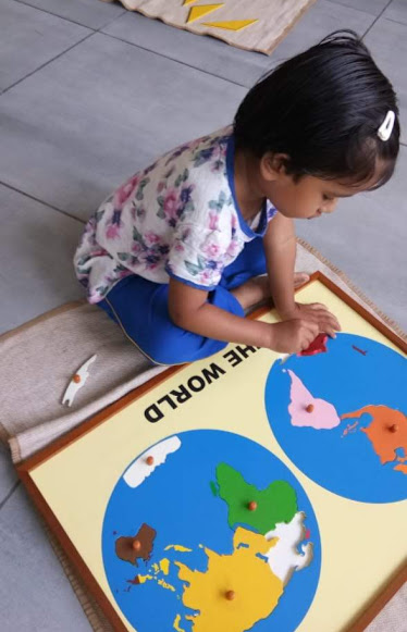Montessori geography - world map