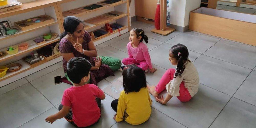 Montessori oral language building