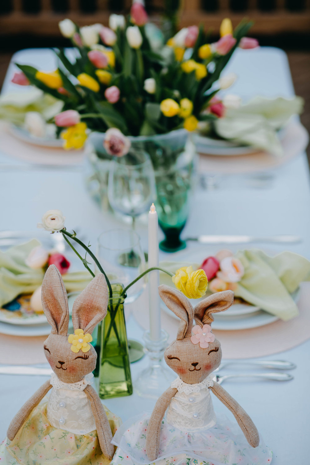 Whimsical Easter Tablescape Decor - Always Creating Studio