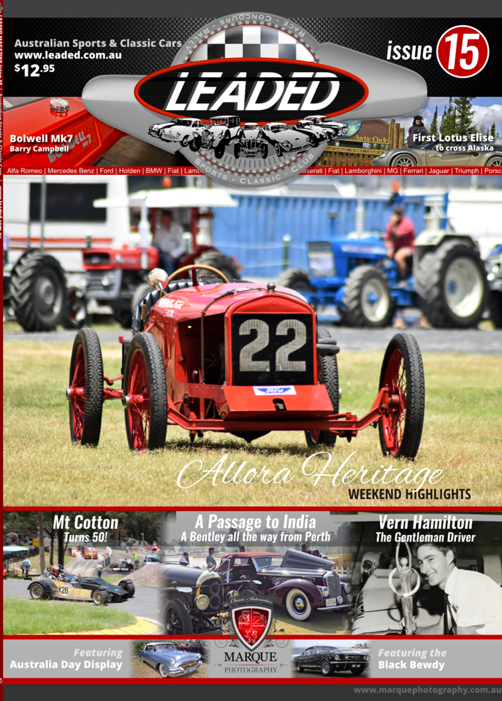 ABOUT LEADED  Leaded (as in the old fuel) is a high quality quarterly publication dedicated to Australian Car Clubs, Australian Car Club Events, Australian Car Collectors and Enthusiasts. It is obtained through Car Clubs, Automotive Events,  the  On-line Leaded Store . Leaded is proudly an Independent Australian owned, printed publication by Mark Buchanan of Marque Photography.