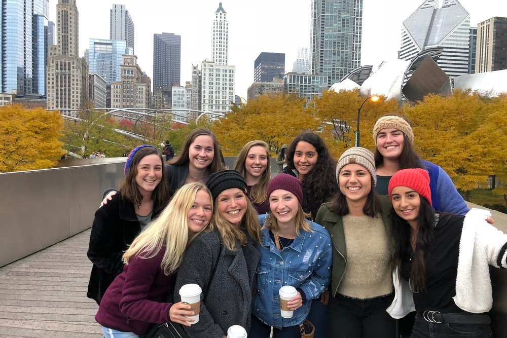Some of our travel team at the 2018 Chicago Invitational