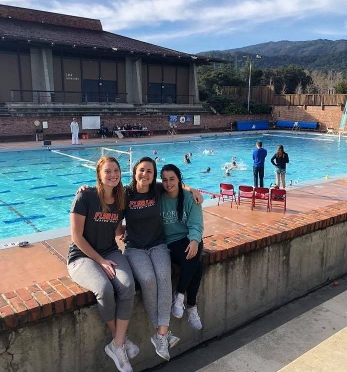 Emily, Mariana, and Angela enjoying the views at the 2018 Foothills Invitational