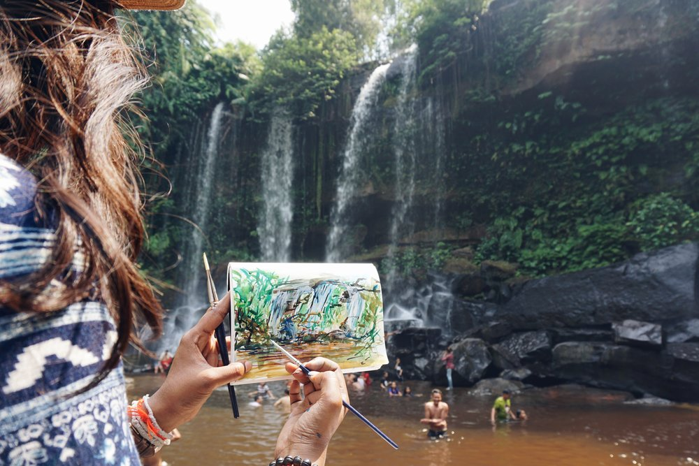Thiviyaa's Travelling Canvas : Phnom Kulen Waterfall, Siem Reap, Cambodia  Backpacking through South East Asia (2017)
