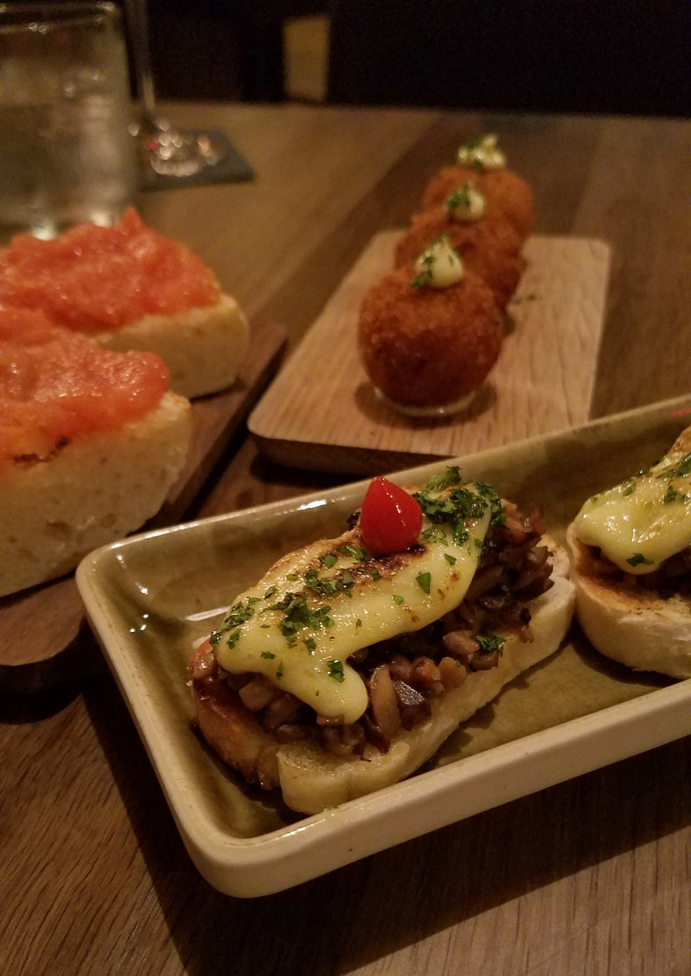 Mushroom Montadito - toasted bread, sauteed mushrooms, truffle aioli and piparras. Just look at the torched aioli! How could you not order a second round?