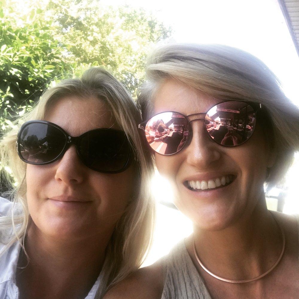 Lisa and Caz