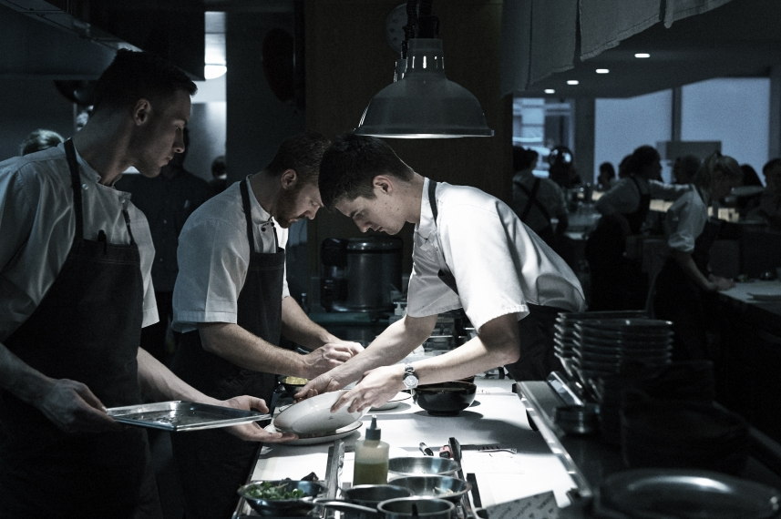 We love watching the staff creating awe-inspiring dishes.   Photo