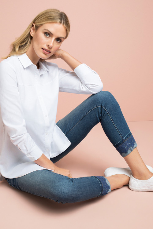 Classic white shirt  $49.99   Boyfriend Jeans  $39.00