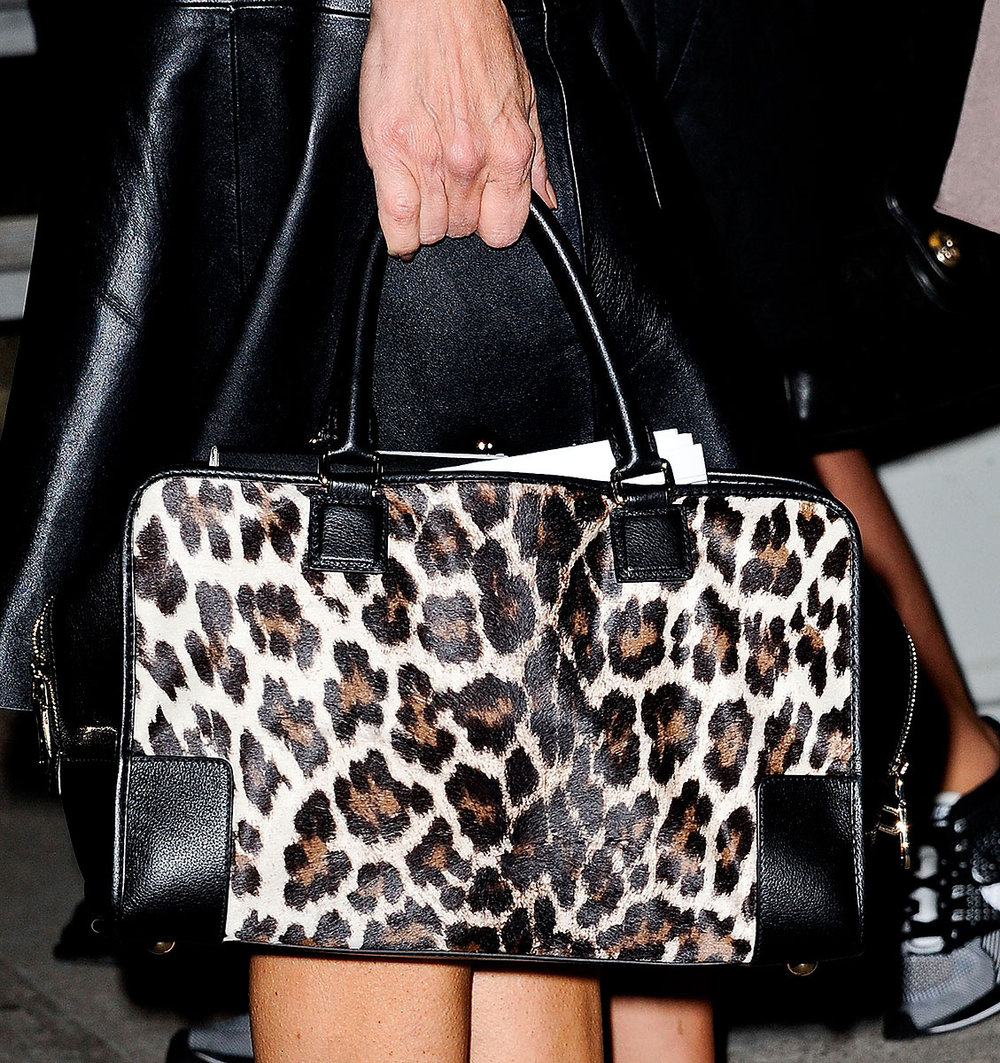 A Leopard Print Bag adds an instant wow to your outfit.   Photo