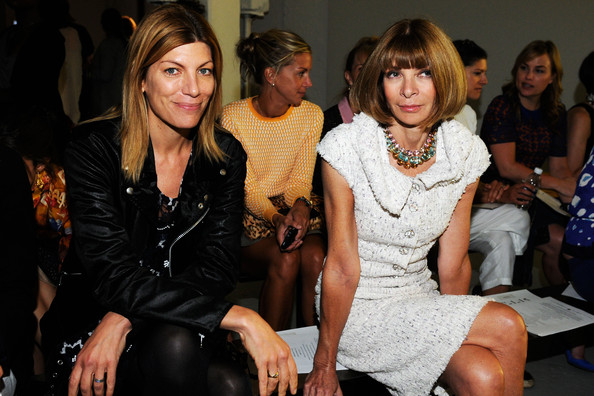 Anna Wintour and Virginia Smith 2013 Spring Mercedes-Benz Fashion Week   Photo