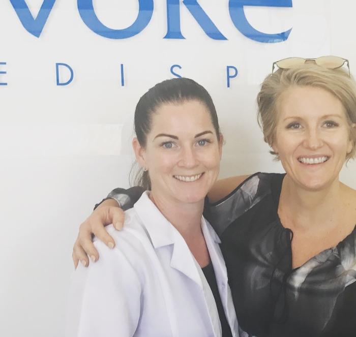 Narelle, my skin doctor, and Caz after the facial.  No makeup!  No Botox!