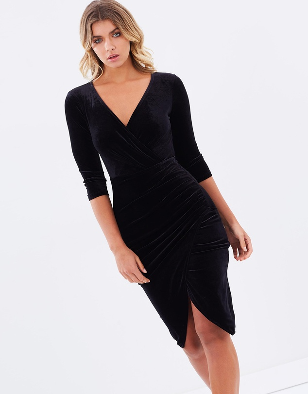 The Iconic's velvet cross over dress.  $79.95 (40% OFF USE CODE PICKME).   Shop here