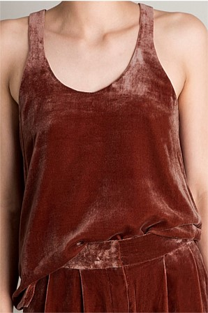 """Rust Velvet Point Tank"" by Bianca Spencer.  Was $325.00, down to $123.00.   Shop here"