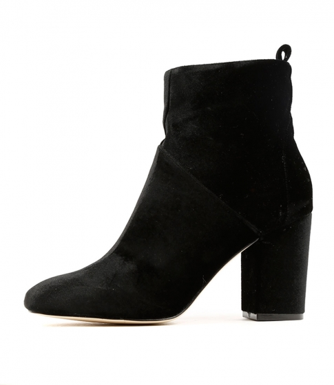 Mollini Boxer Black Velvet Boots by Verali. Great price at $99.95.   Shop here