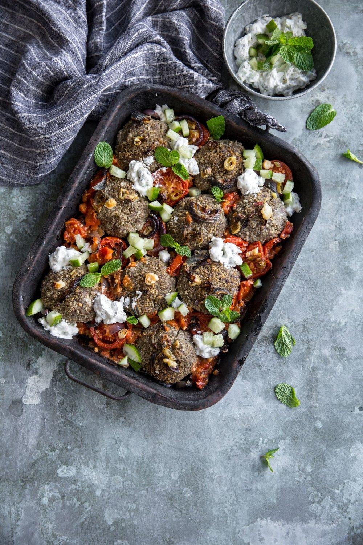 Beef and quinoa patties.