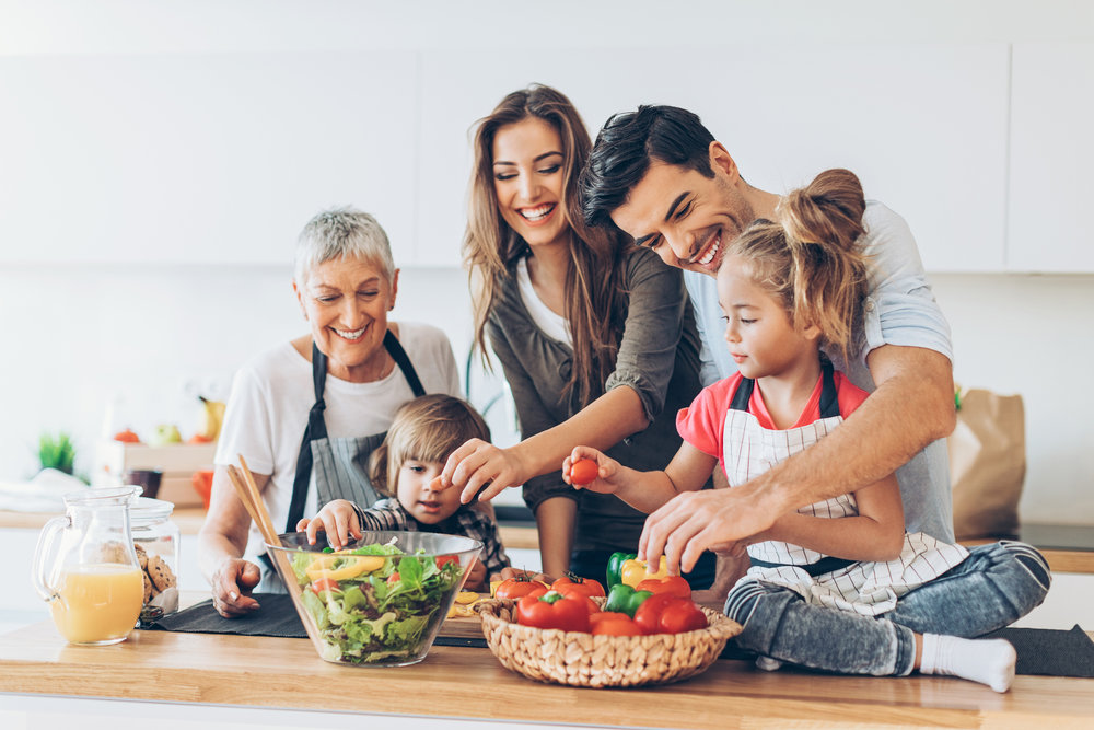 Healthy food needs to be communicated by the whole family.