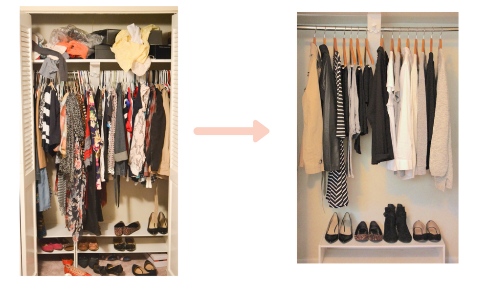 The first step is to clean out your wardrobe.  Moving to a smaller abode this year, I sold off half my wardrobe!  This has been a refreshing exercise as the secret is to have less items, but ones that work of your lifestyle.     Photo