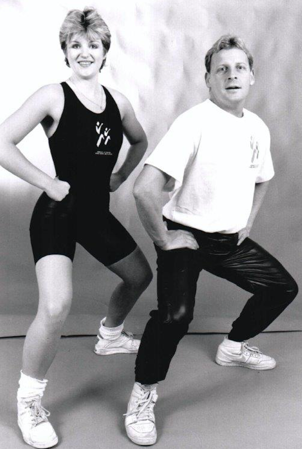 You have to love the 80's!  Ivan and I modelling during our aerobics days.  Fabulous!!!