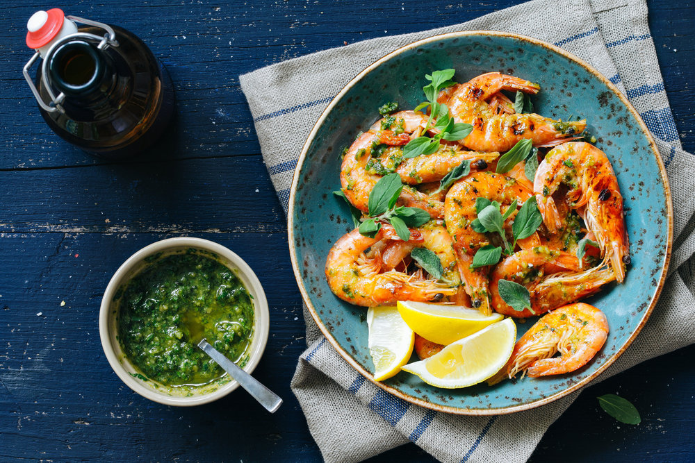 Amazing on grilled prawns.