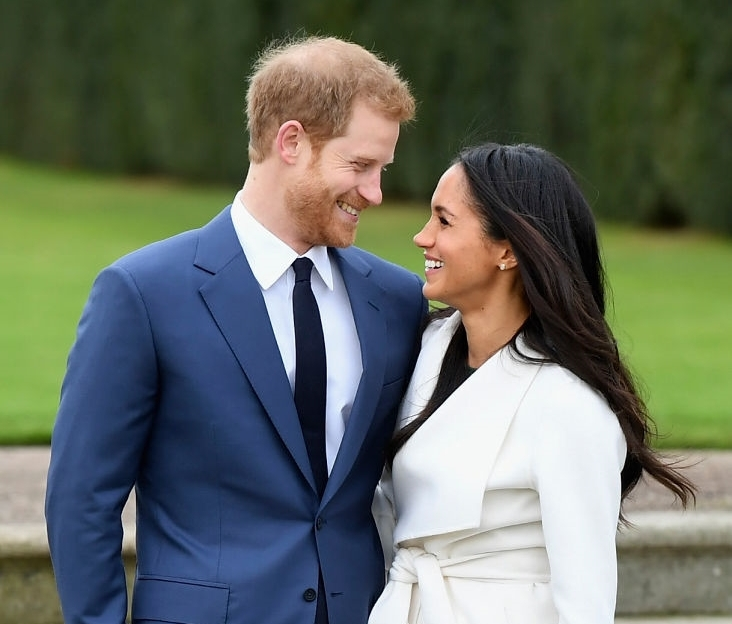 Prince Harry (L) and Meghan Markle officially announce their engagement and plan to wed September 2018.  Image Source:  Getty Images
