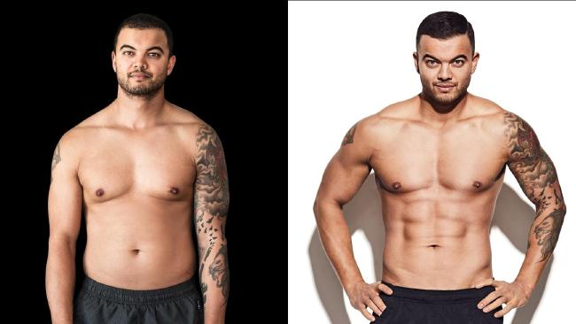 Guy Sebastian had eight weeks to get into shape for his Men's Health Australia cover. Picture: Jason Ierace Source:  Here