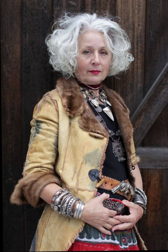 Fashion is for any age and shape.  You only need to keep believing in yourself and develop your own style.   Image source