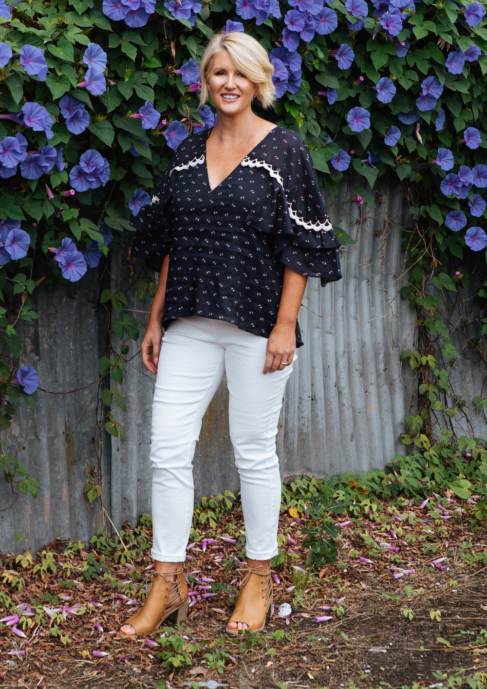 "A gorgeous investment piece, like this top doesn't have to go into the ""best"" section of your wardrobe.  Pull it out and style with all your jeans.    Stevie May - Coronado Top"