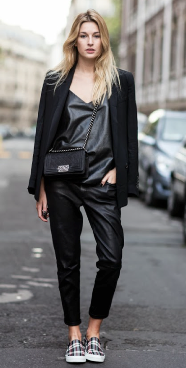 And of course Melbourne's favourite colour and style, black leather.  Image