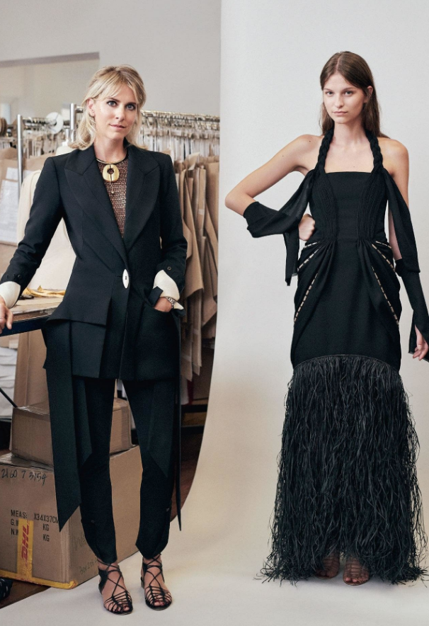 Kit Willow and Livia Firth styled by Kate Darvill. Image credit: Duncan Killick