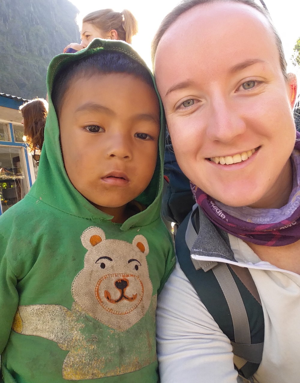 Sarah and a child from Nepal on her last visit.