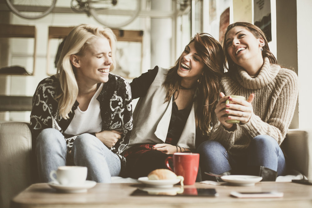 Laughing with friends isn't always great for the lines around our eyes, but great for our souls.