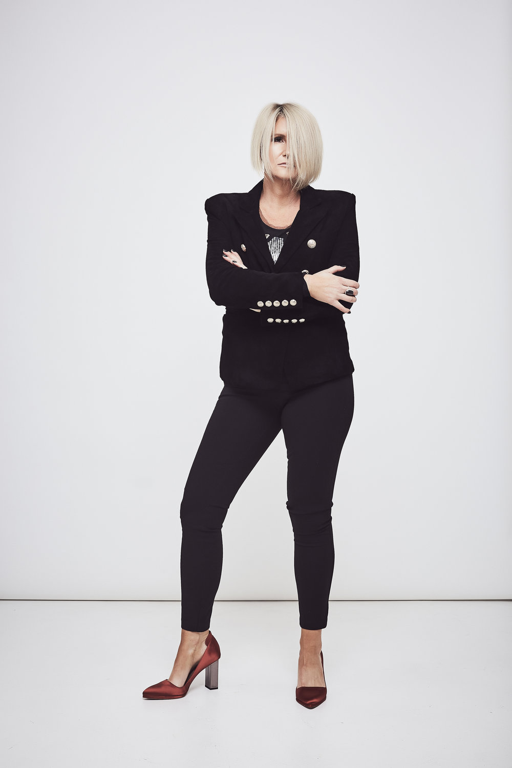 DEA The Label  jacket and top.   Witchery  pants and  Ginger and Smart  Shoes.