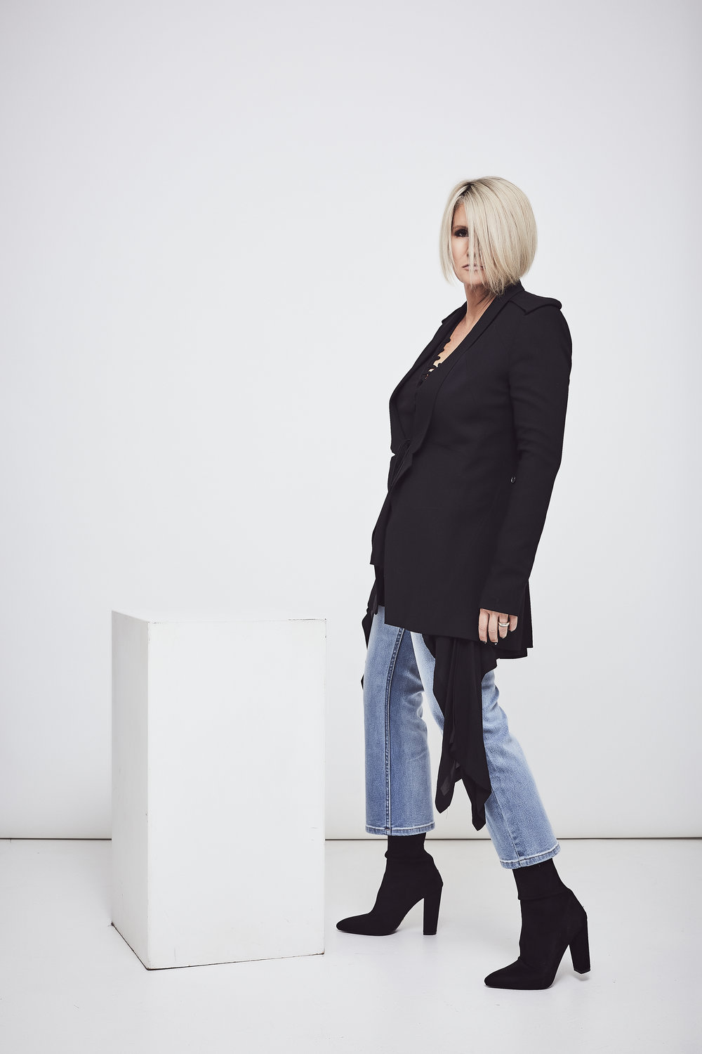 Kitx  jacket and shirt, Jeans from  Intrigue On Rose  and  Bollini  boots.