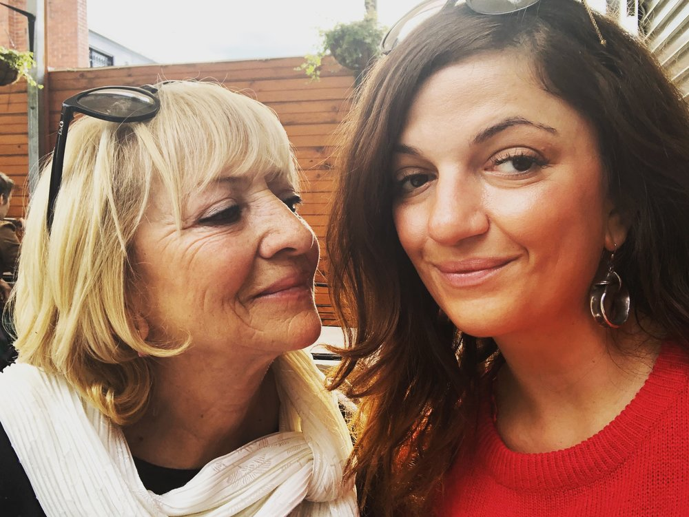 Liz and her beautiful Mum.