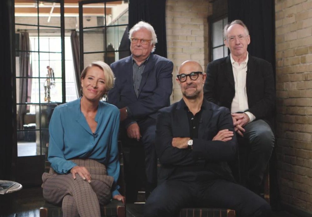 'The Children Act' actors Emma Thompson and Stanley Tucci, screenwriter/author Ian McEwan, and director Richard Eyre discuss their new film.  Image
