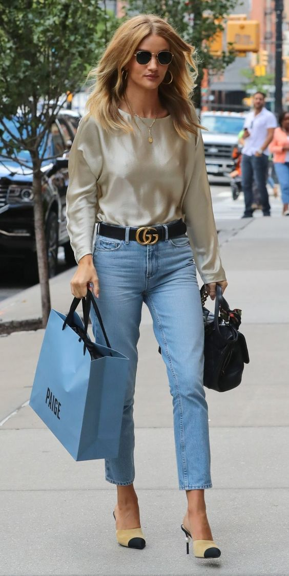Rosie Huntington-Whiteley in Nili Lotan out and about in NYC.