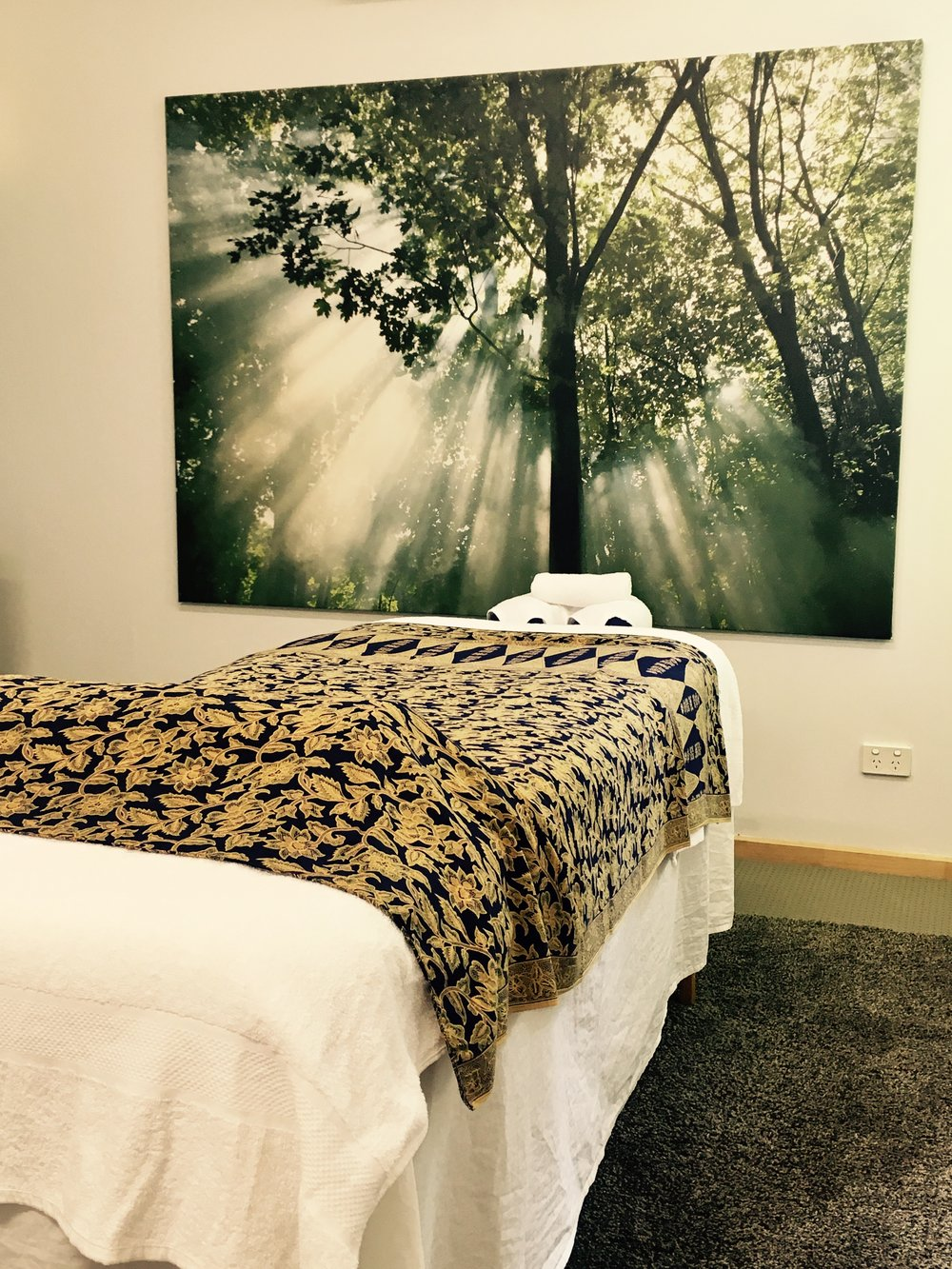 Our treatment room at Awakened Lotus, Ashgrove
