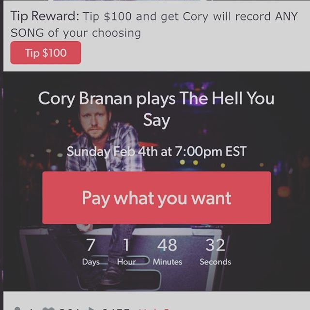 So, it's the 15 year anniversary of my first album The Hell You Say. I'll be playing it in its entirety live in your living room this Sunday Feb. 4th. At 4:30 central before Super Bowl (Link in profile) (yes, I know pic is listing it at wrong time) via @concertwindow #livecam #notthatkindoflivecam