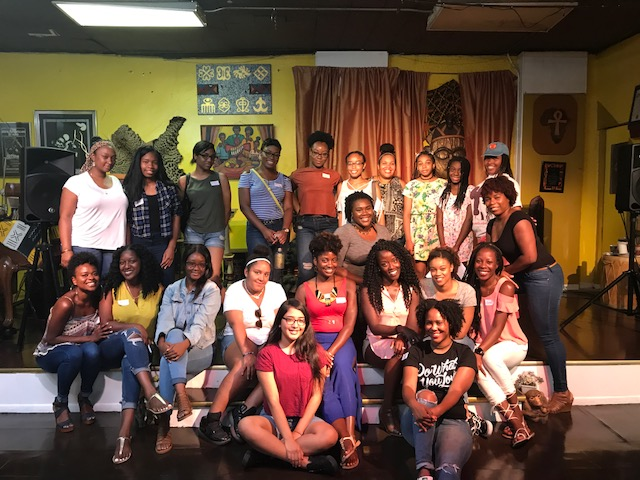 Members of Purposefully Pretty Inc. with attendees after their Meet Up on Saturday August 19, 2017.