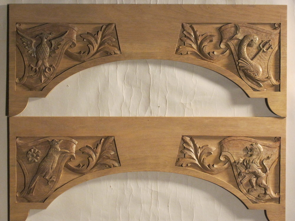 Carved cabinet tops