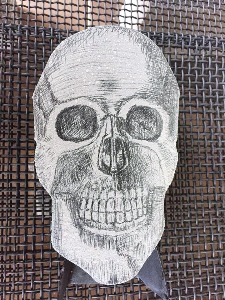 Prefired Enamel Skull by Tammi Sloan of My Brown Wren