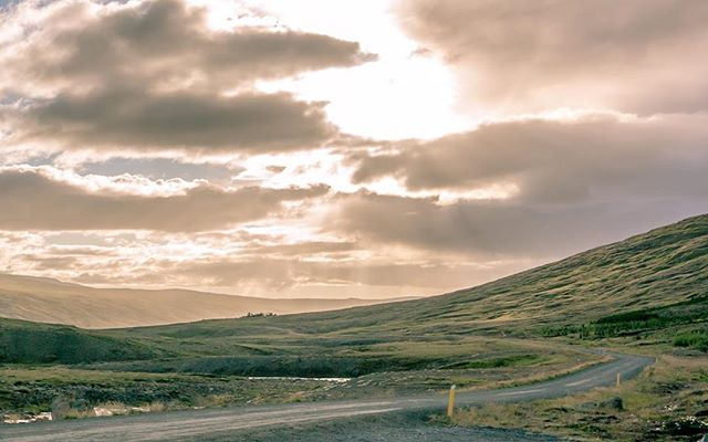Route 52, Western Region, Iceland . . . #roadporn #icelandphotos #iceland #road #photooftheday #picoftheday #photos #nature #beautiful #beautifulplace  #photography #pretty #sunset #sunsets