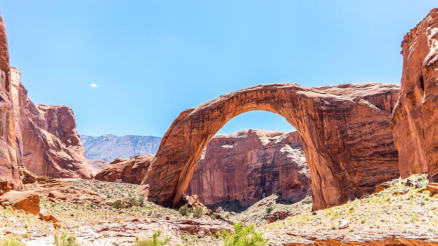Rainbow Bridge National Monument Utah. So tall that the Statue of Liberty could stand beneath...