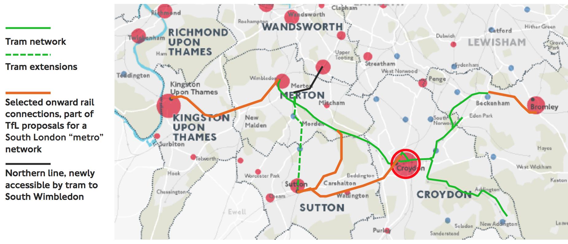 Merton and Sutton Borough Council foot the 230m South Wimbledon