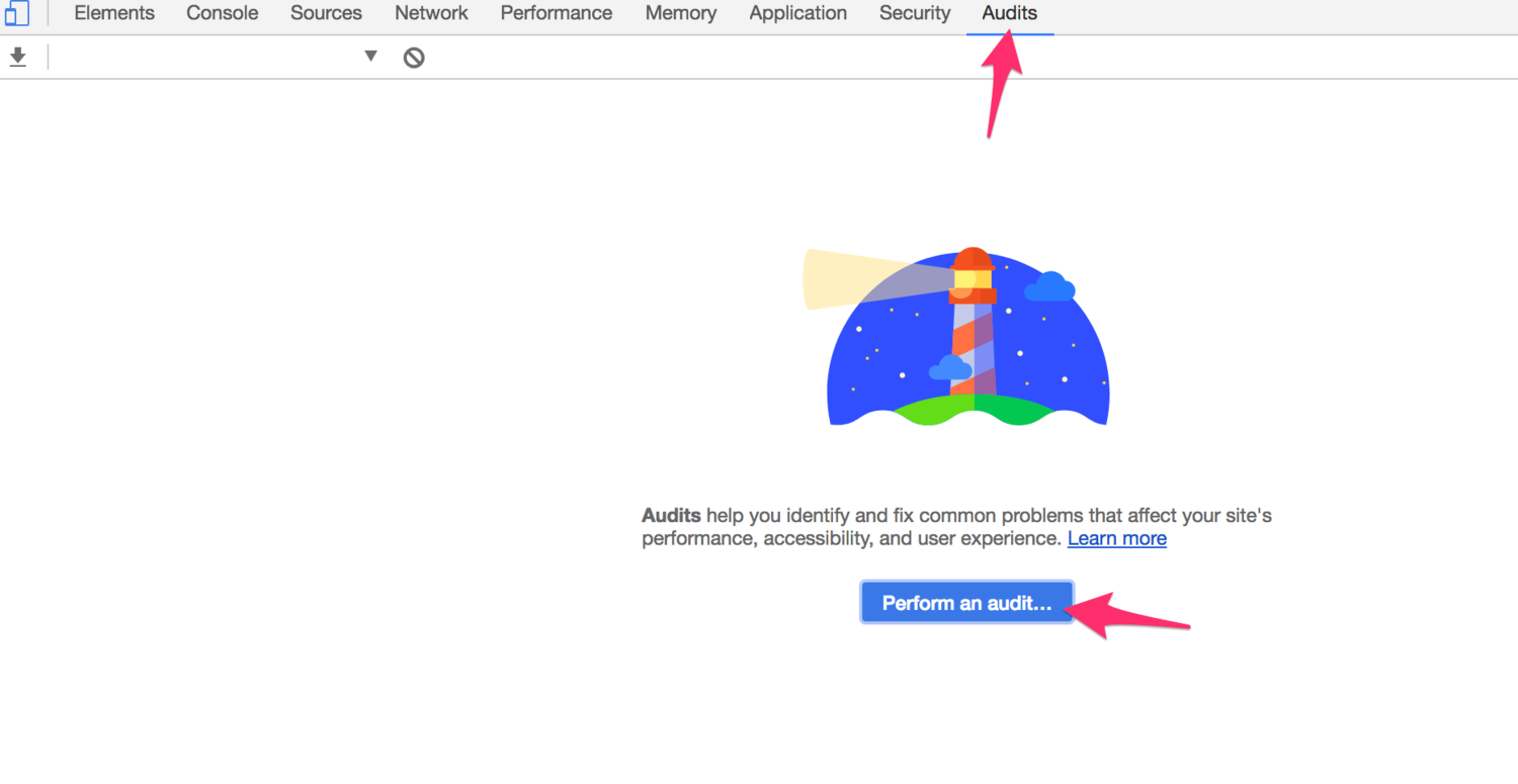 How to perform an audit using Lighthouse within your Google Chrome Browser.