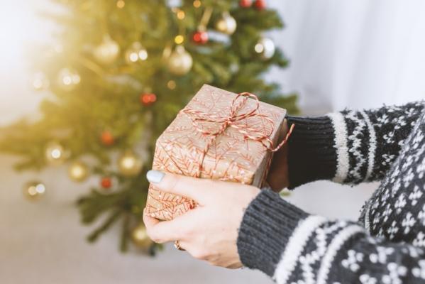 person christmas present christmas tree ornaments