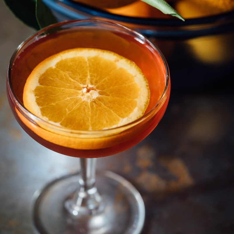 gin drink with orange cocktail festive tipple