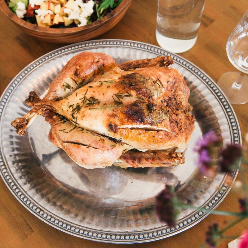 roast turkey main sides salad christmas dinner